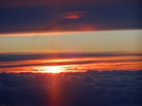 Un coucher de soleil qui a duré plusieurs heures...