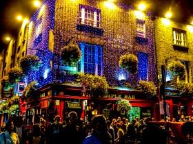 Dublin la nuit à Temple Bar