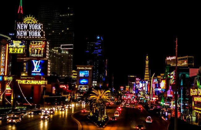 Vue sur Las Vegas la nuit