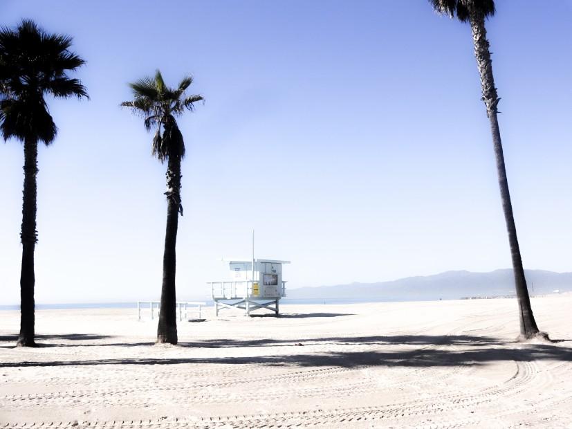Plage immense de Los Angeles