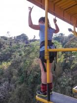 Juste avant le saut à l'élastique au Costa Rica