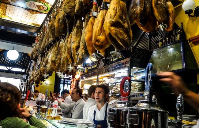 Bar à tapas à Séville