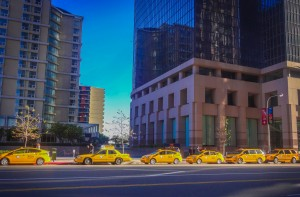 Les taxis de Downtown Los Angeles