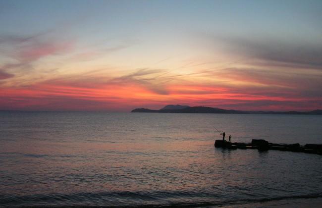 La Pradet au coucher du soleil