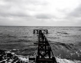 Jetée sur la mer à Aarhus