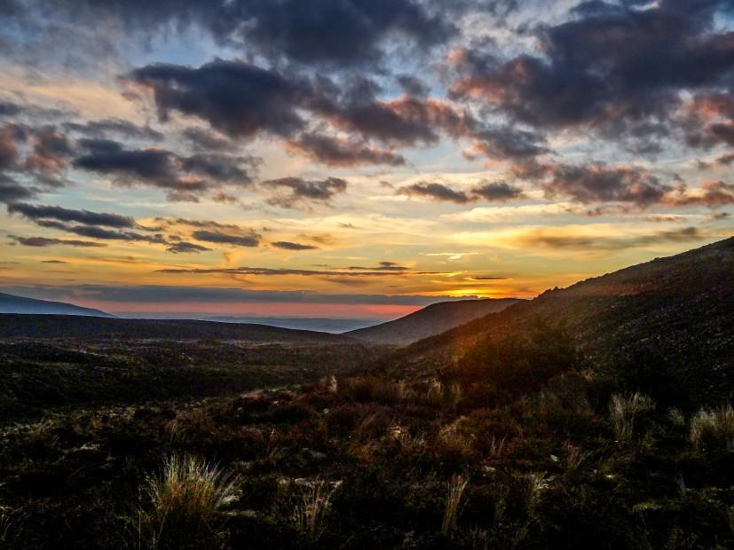 Coucher de soleil sur le Tongariro