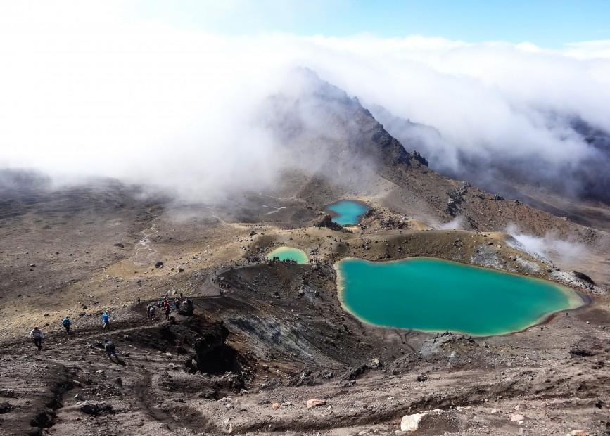 Tongariro Alpine Crossing, les Emerald Lakes