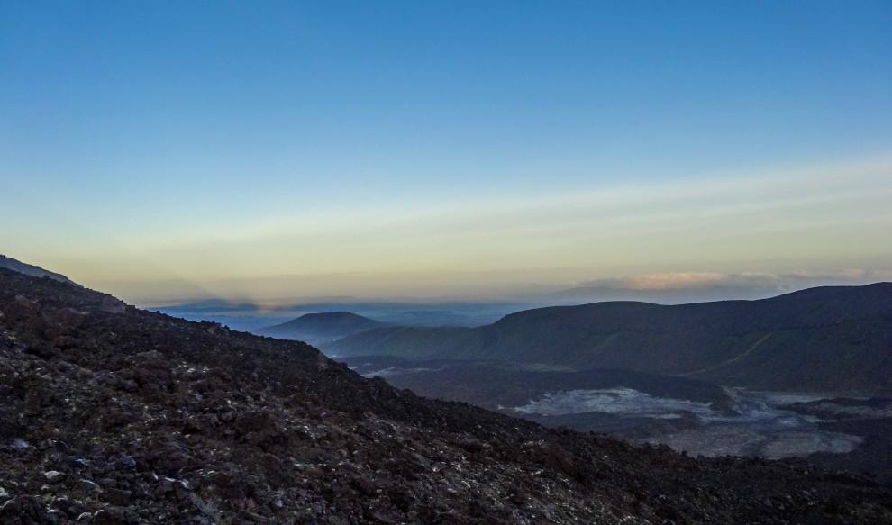 L'aube sur le Tongariro