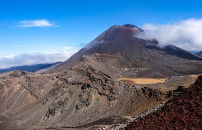 Mont Ngauruhoe dans le Parc National du Tongariro