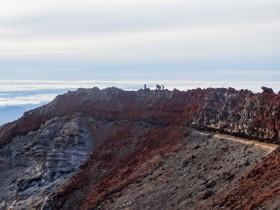 Sur le cratère