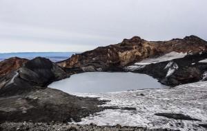 Le cratère du Ruapehu