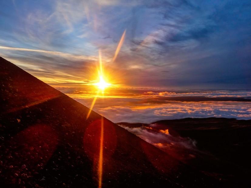 Crépuscule sur le Ngauruhoe