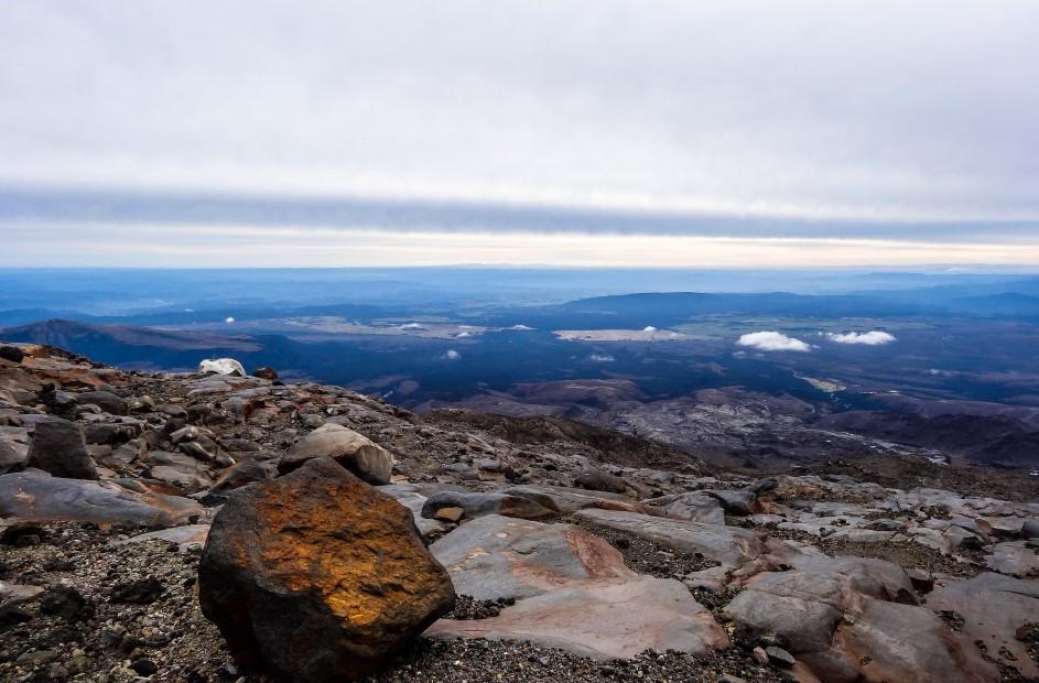 Entre les pierres du Mont Ruapehu
