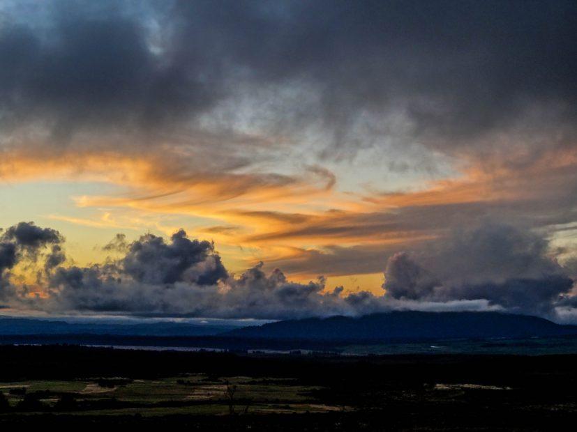 Un coucher de soleil au Skotel