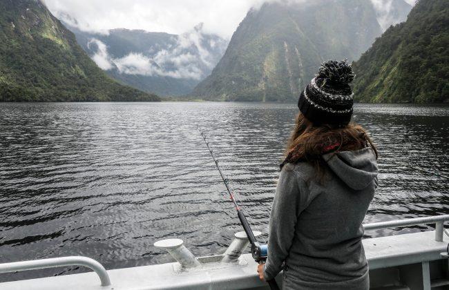 Pêche dans le Doubtful Sounds