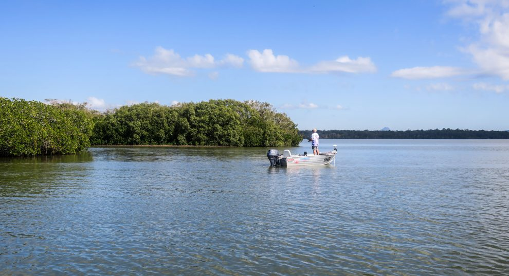 Pêcheur sur les Everglades