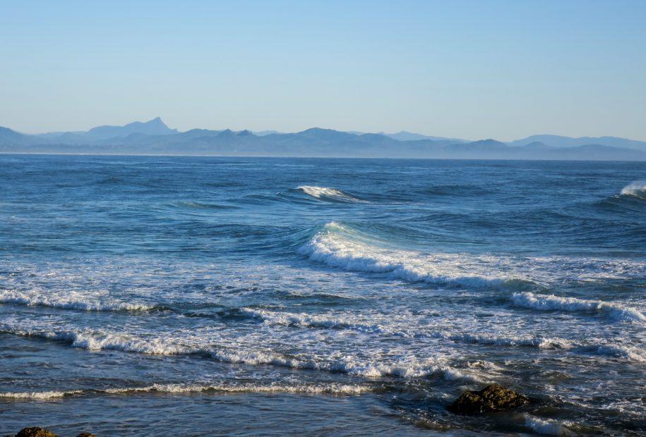 Les vagues bleues