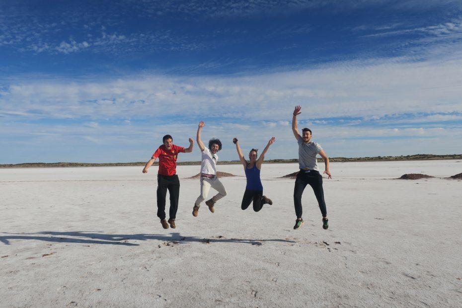 Lac de sel près d'Uluru