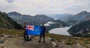 Drapeau NZ dans les Pyrénées