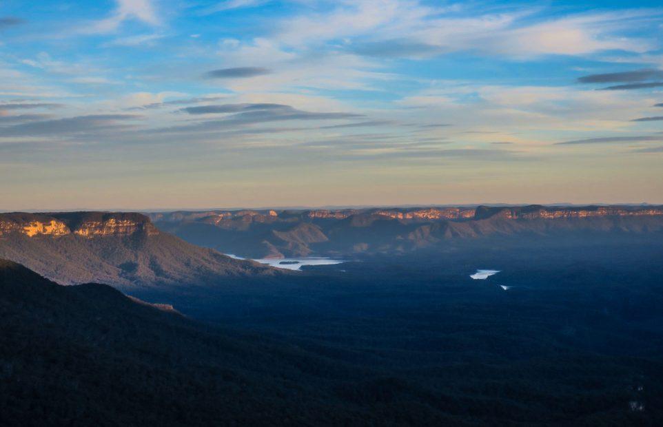 Coucher de soleil sur les Blue Mountains