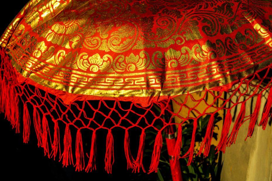 Parasol doré, Bali