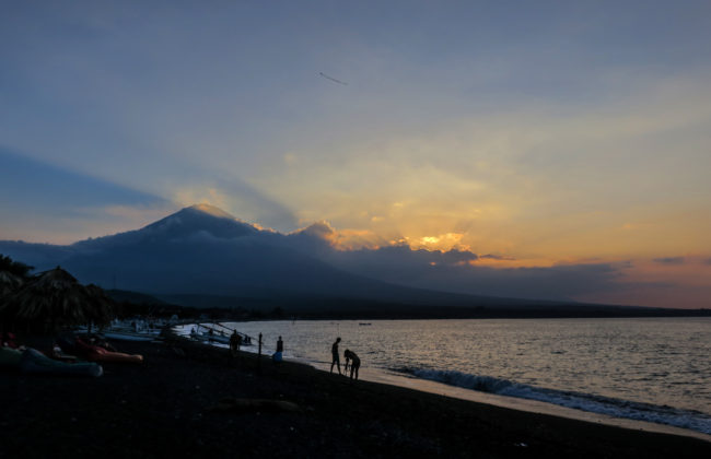 Mount Agung, depuis Amed