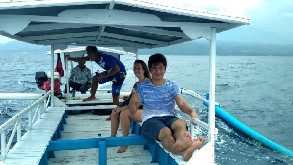 Menjangan en bateau