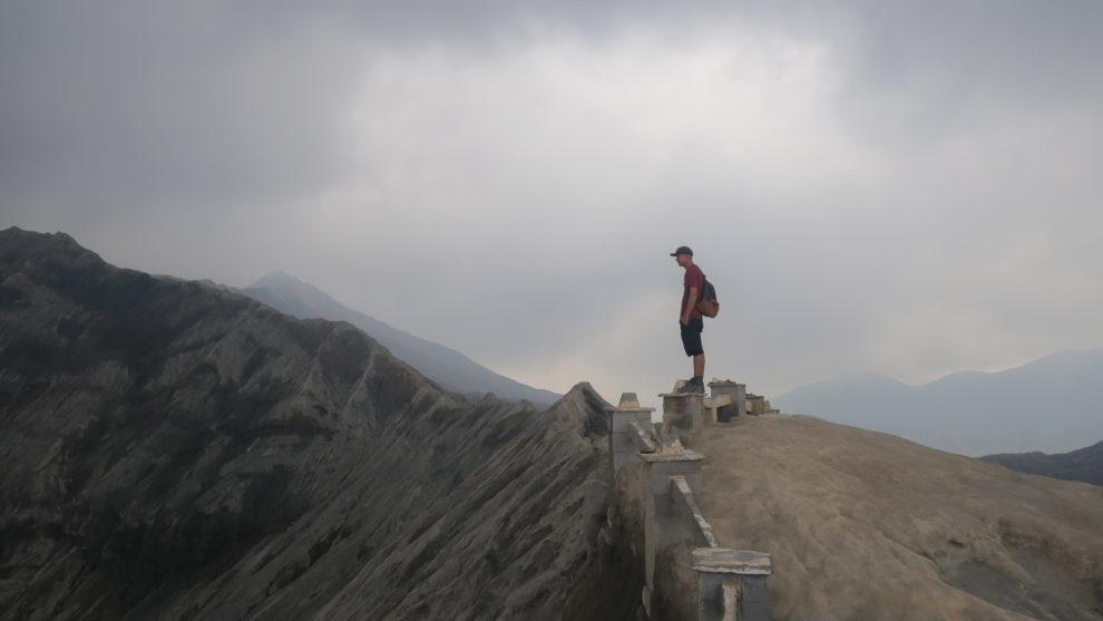 Flo au sommet du Mont Bromo