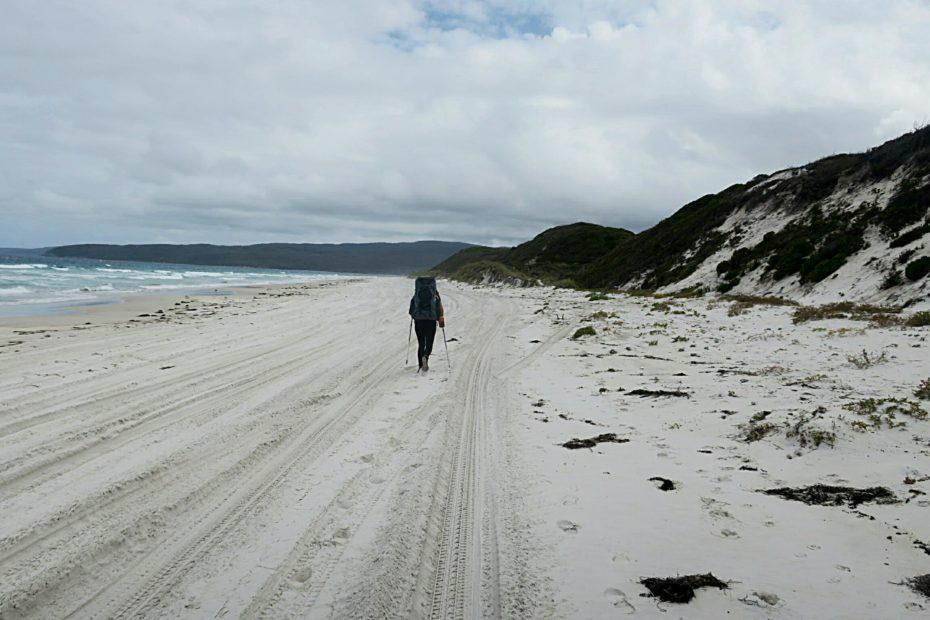 Randonnee sur la plage jusqu'a Denmark